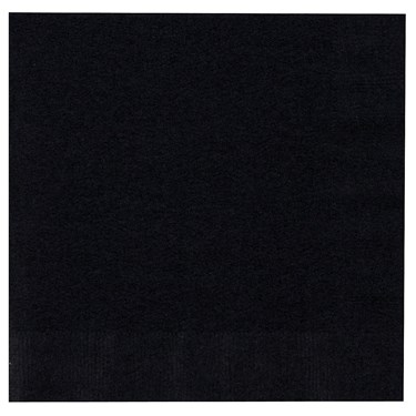 Black Velvet (Black) Lunch Napkins