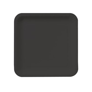 Black Velvet Square Dessert Plates