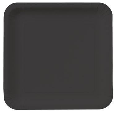 Black Velvet Square Dinner Plates