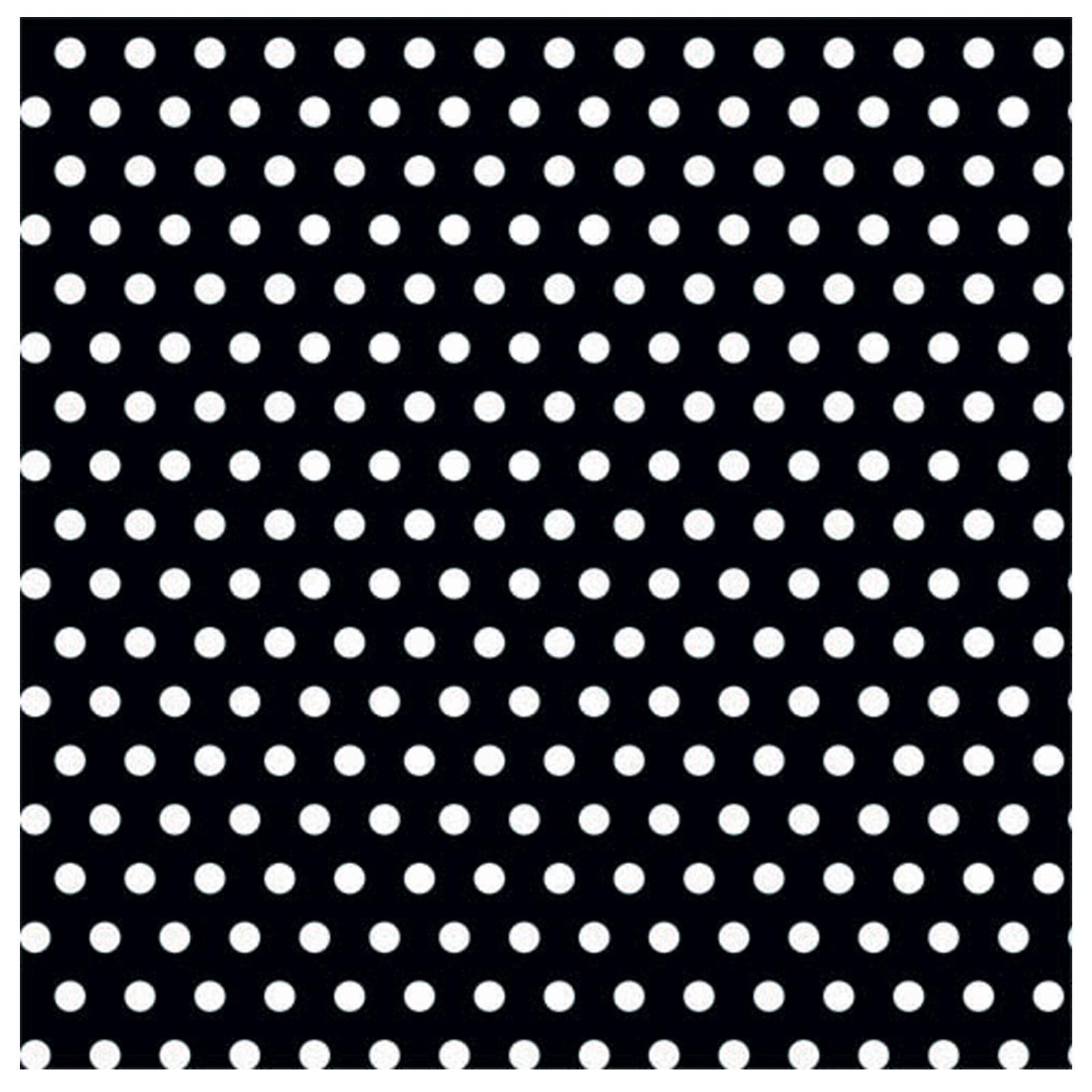 Solid color pattern polka dots black with polka dots jumbo gift wrap