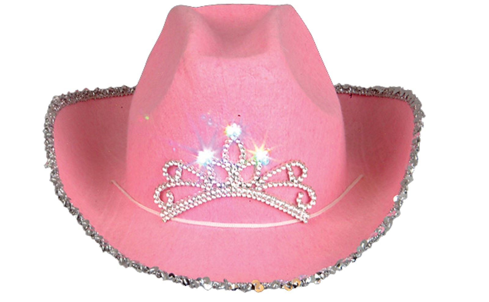 Blinking Pink Tiara Cowboy Hat (Child)   BirthdayExpress.com
