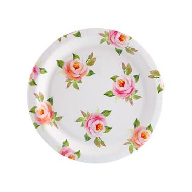 Blooming Elegance Roses Dessert Plate (8)