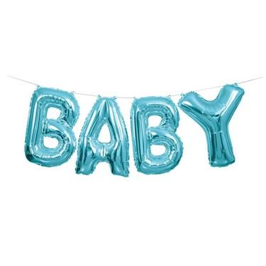 """Blue 14"""" Balloon Letter Banner Kit - Baby"""
