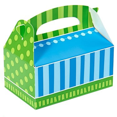 Blue and Green Empty Favor Boxes (4)