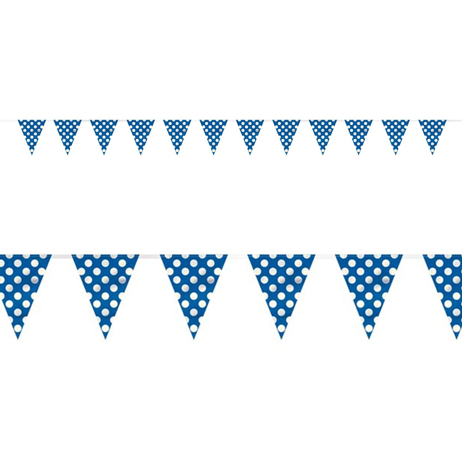 Blue And White Dots Flag Banner Birthdayexpress Com