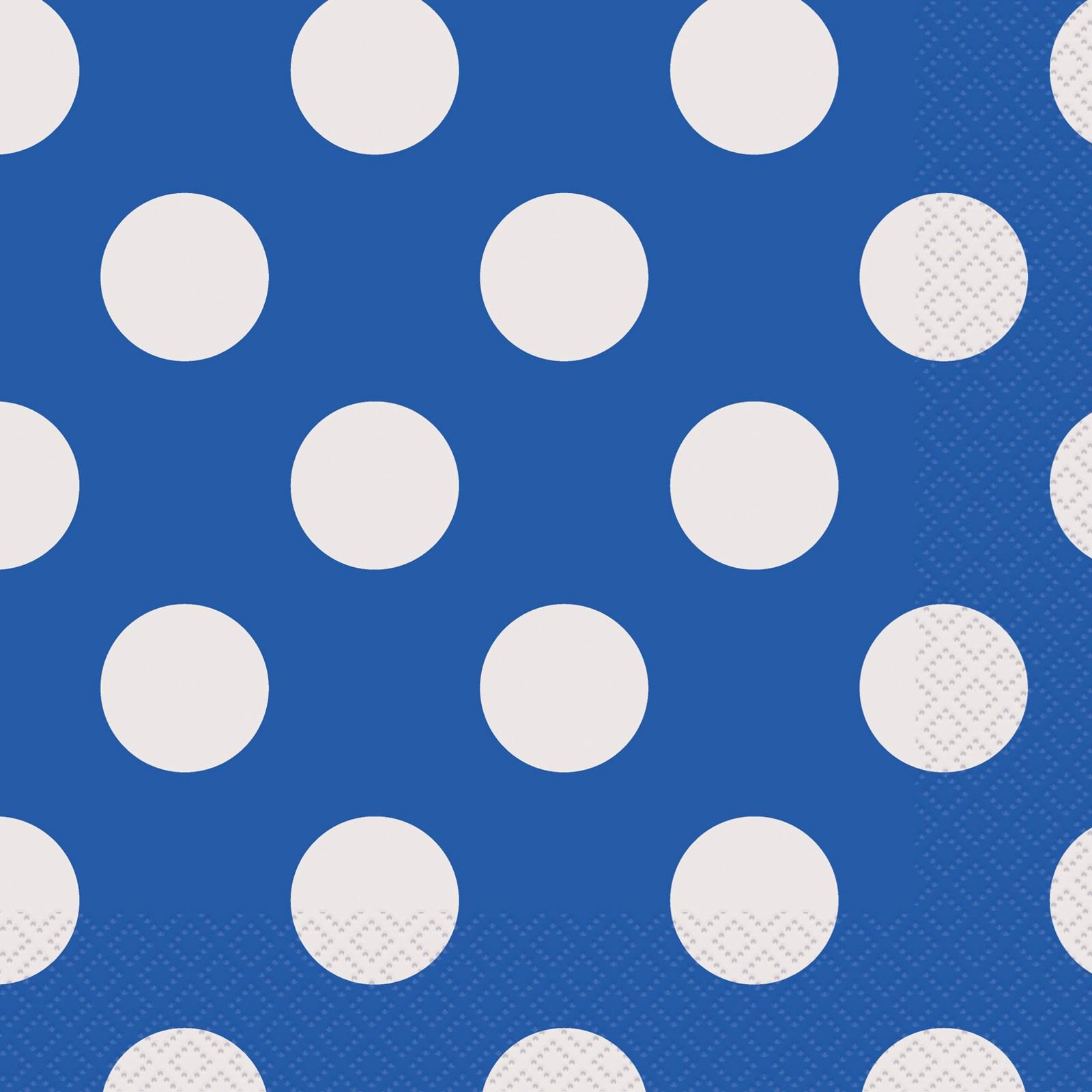 Blue And White Dots Lunch Napkins 16 BirthdayExpresscom