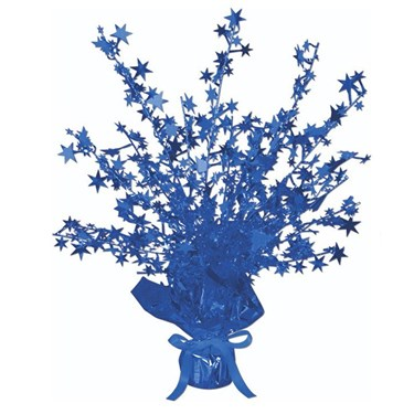 Blue Foil Star Gleam 'N Burst Centerpiece