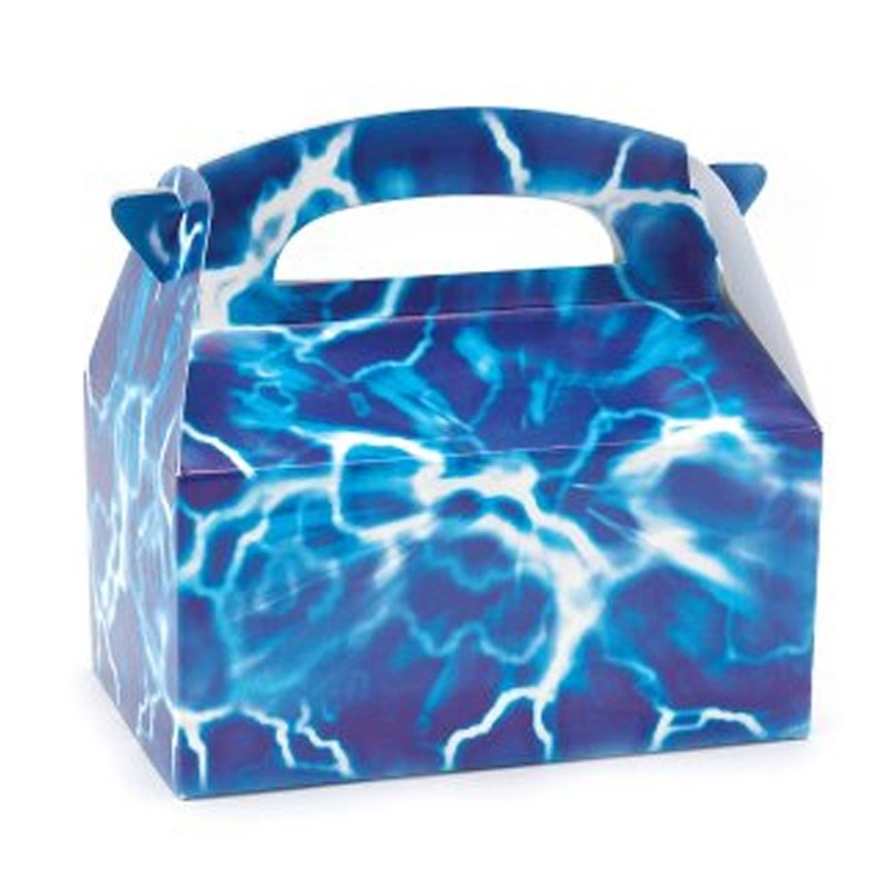 Blue Lightning Favor Boxes : Blue lightning empty favor boxes birthdayexpress