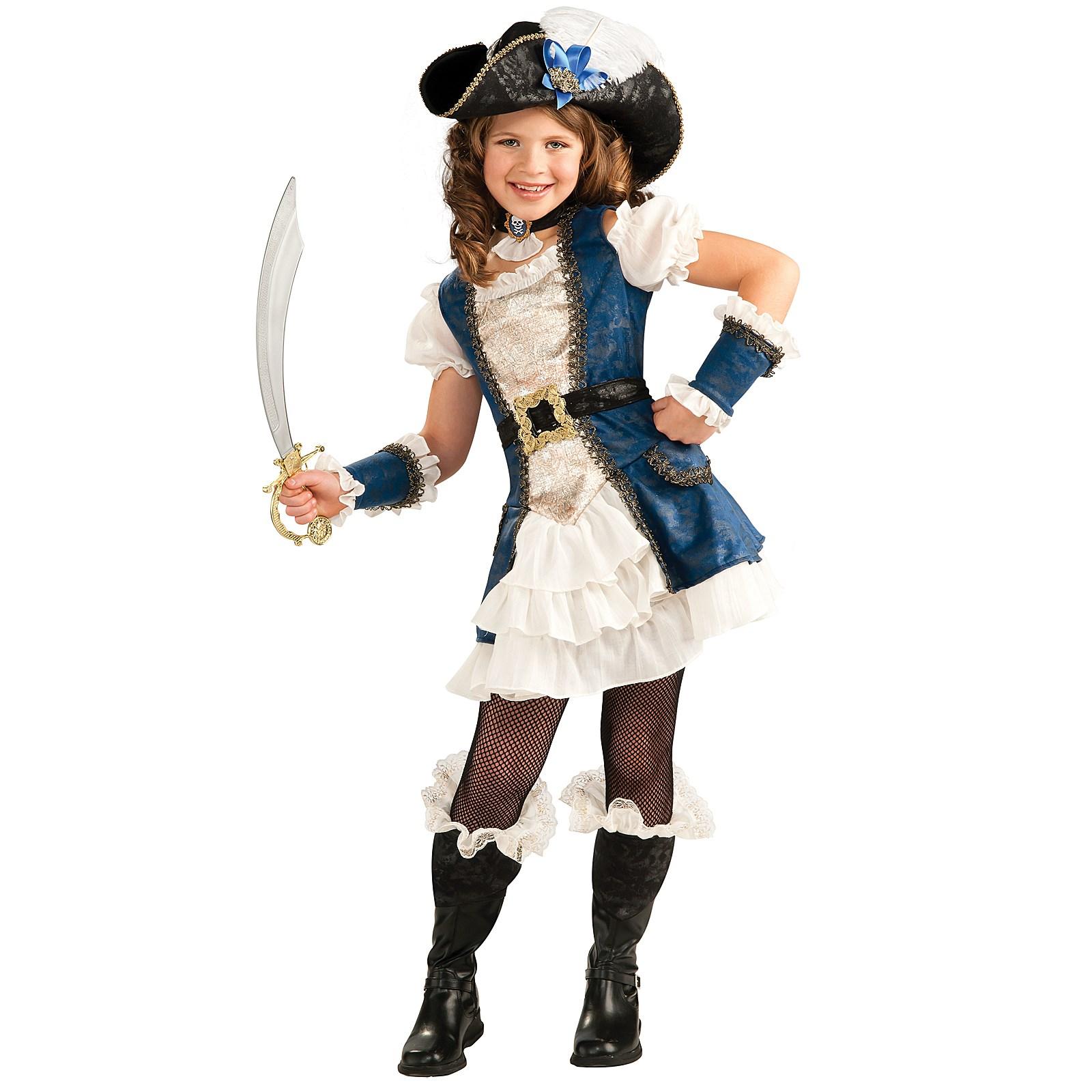 blue pirate girl child costume. Black Bedroom Furniture Sets. Home Design Ideas