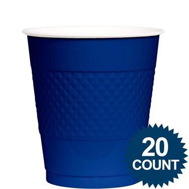 Blue Plastic Cups 12oz. (20 Pack)