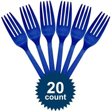 Blue Plastic Forks