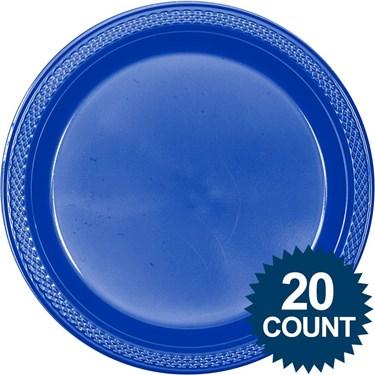 Blue Plastic Plates