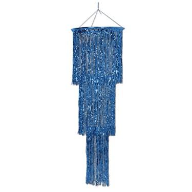 Blue Shimmering Chandelier