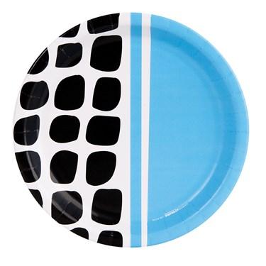 Bold Geometric Blue Dinner Plate (8)