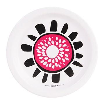 Bold Geometric Pink Flower Dessert Plate (8)
