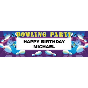 Bowling Personalized Vinyl Banner