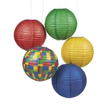 Brick Party Paper Lanterns(6)