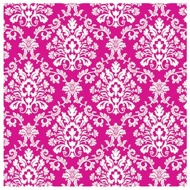 Bright Pink Brocade Jumbo Gift Wrap