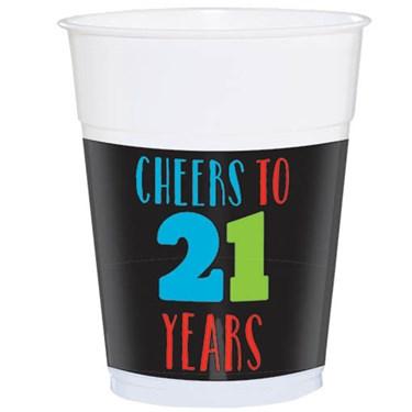 Brilliant 21st Birthday Plastic 16oz Cup