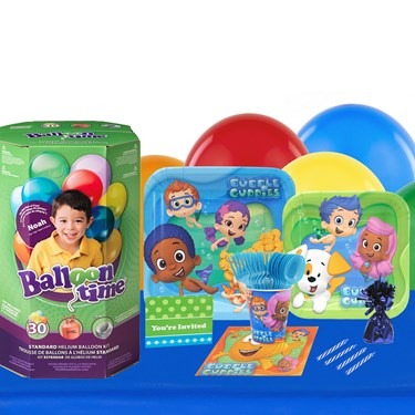 Bubble Guppies 16 Guest Kit with Tableware and Helium Kit