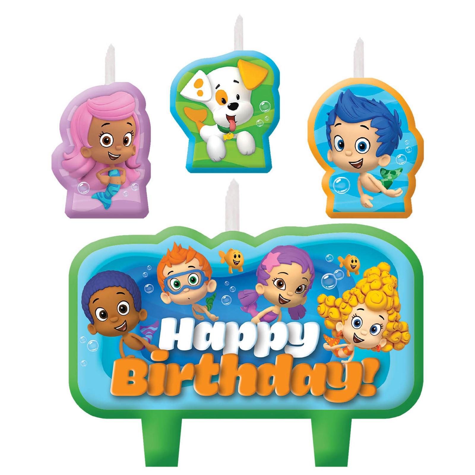 bubble guppies birthday candle set birthdayexpress com