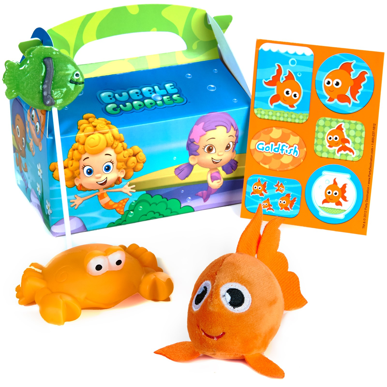 bubble guppies favor box 4 pack birthdayexpress com