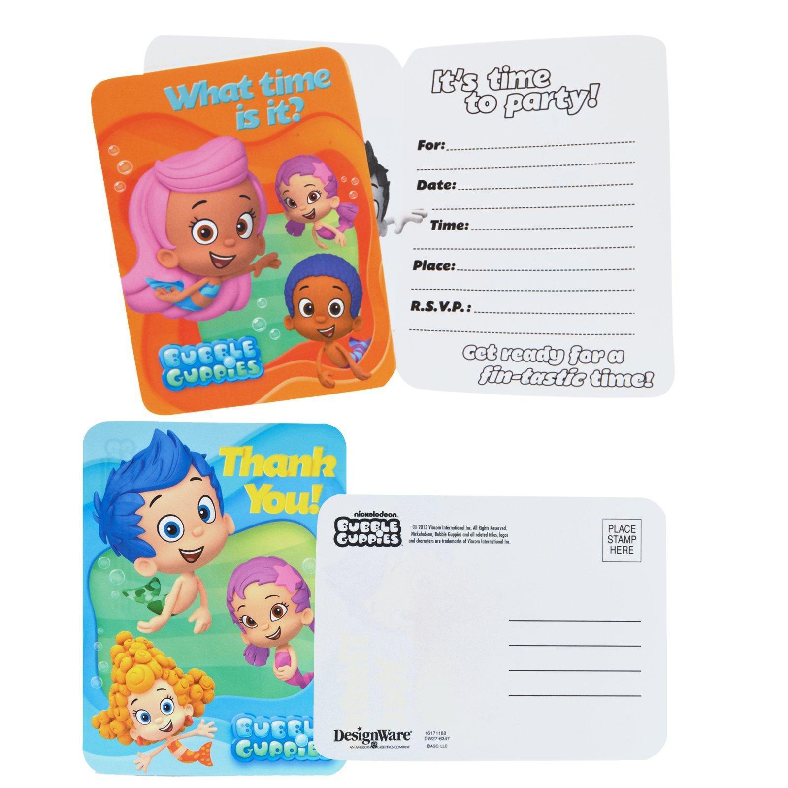 bubble guppies invitations u0026 thank you postcards birthdayexpress com