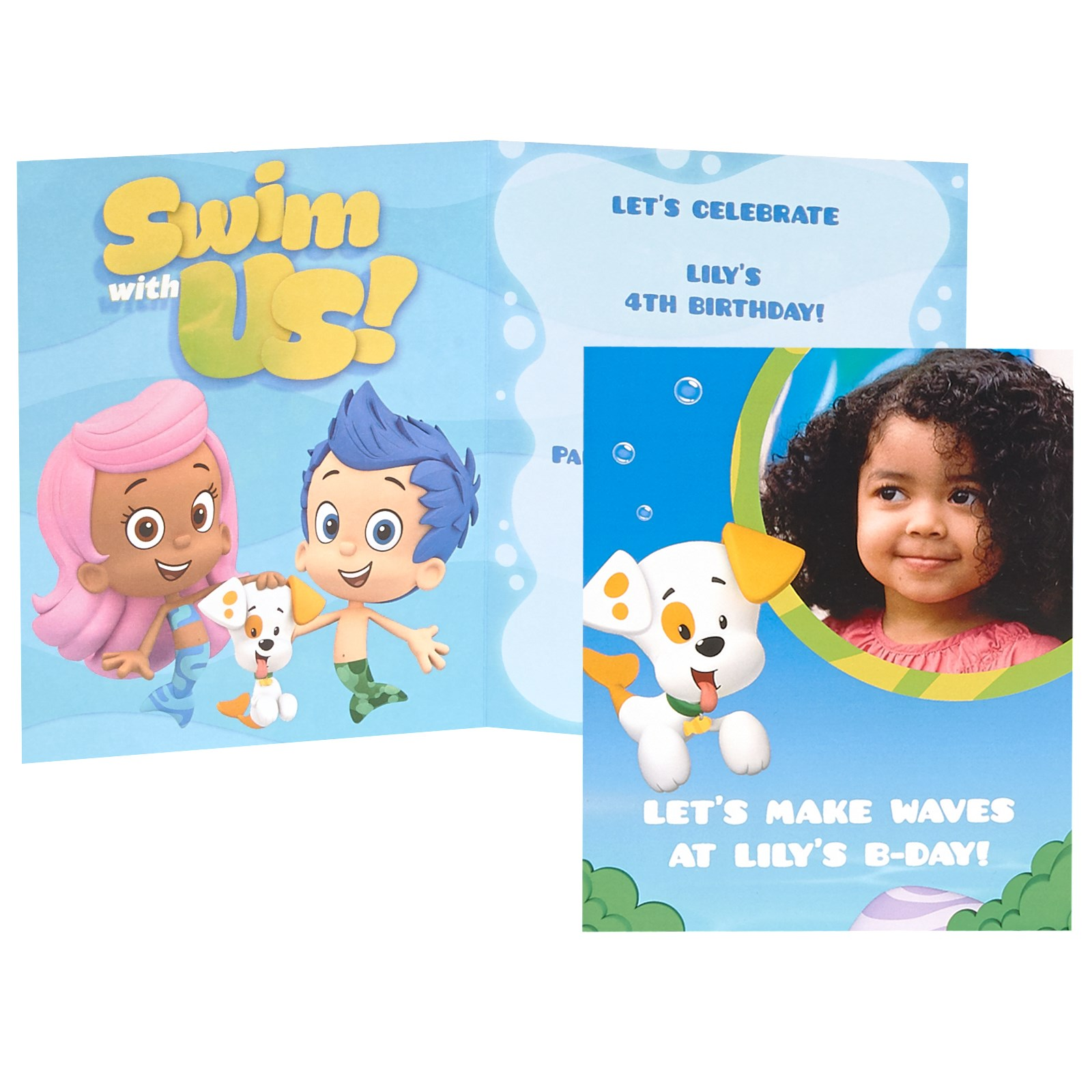 bubble guppies personalized invitations 8 birthdayexpress com