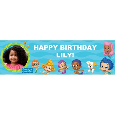 Bubble Guppies Personalized Photo Vinyl Banner