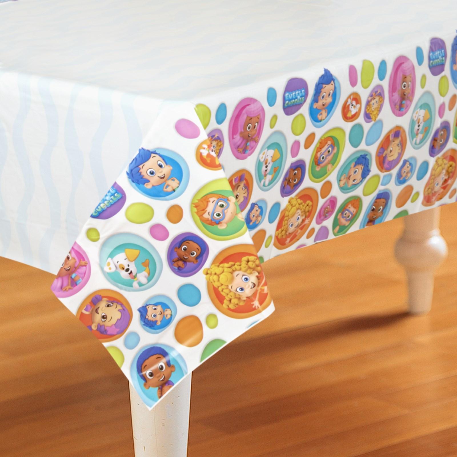 bubble guppies plastic tablecover birthdayexpress com