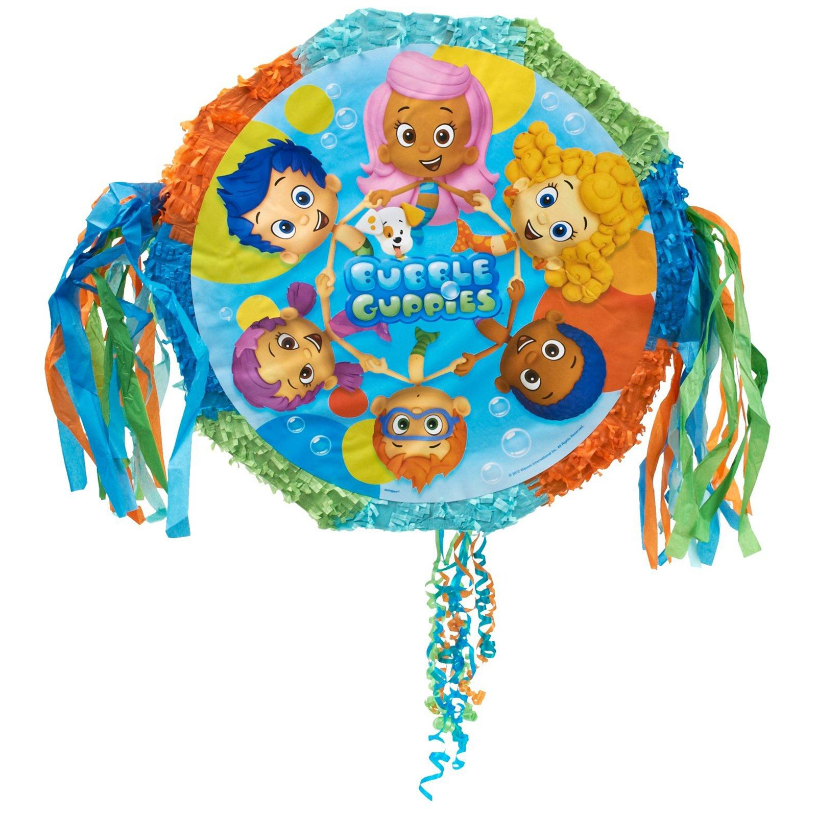 bubble guppies pull string pinata birthdayexpress com
