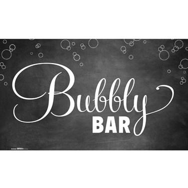 Bubbly Bar Chalkboard Banner