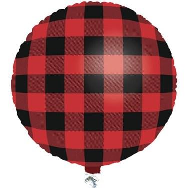 "Buffalo Plaid 18"" Balloon (1)"