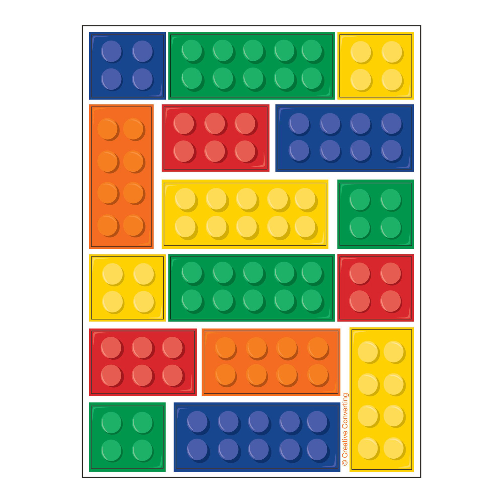 Building Block Party Stickers (4)  sc 1 st  Birthday Express & Lego ® Inspired Party Supplies | BirthdayExpress.com