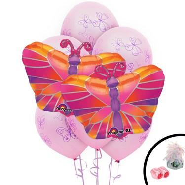 Butterfly Jumbo Balloon Bouquet