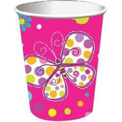 Butterfly Sparkle 9oz Cups (8)