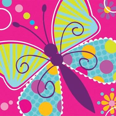 Butterfly Sparkle Beverage Napkins (16)