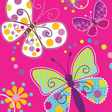 Butterfly Sparkle Luncheon Napkins (16)