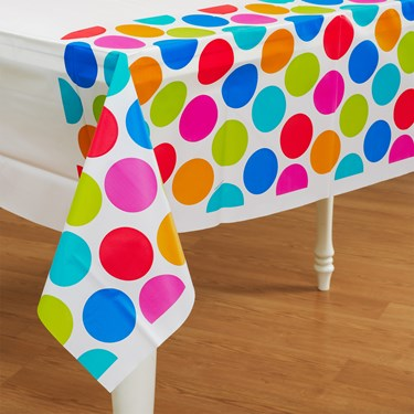 Cabana Dots Plastic Tablecover