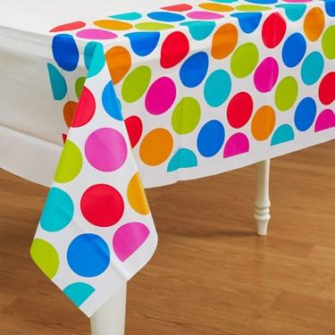 Cabana Dots Plastic Tablecover