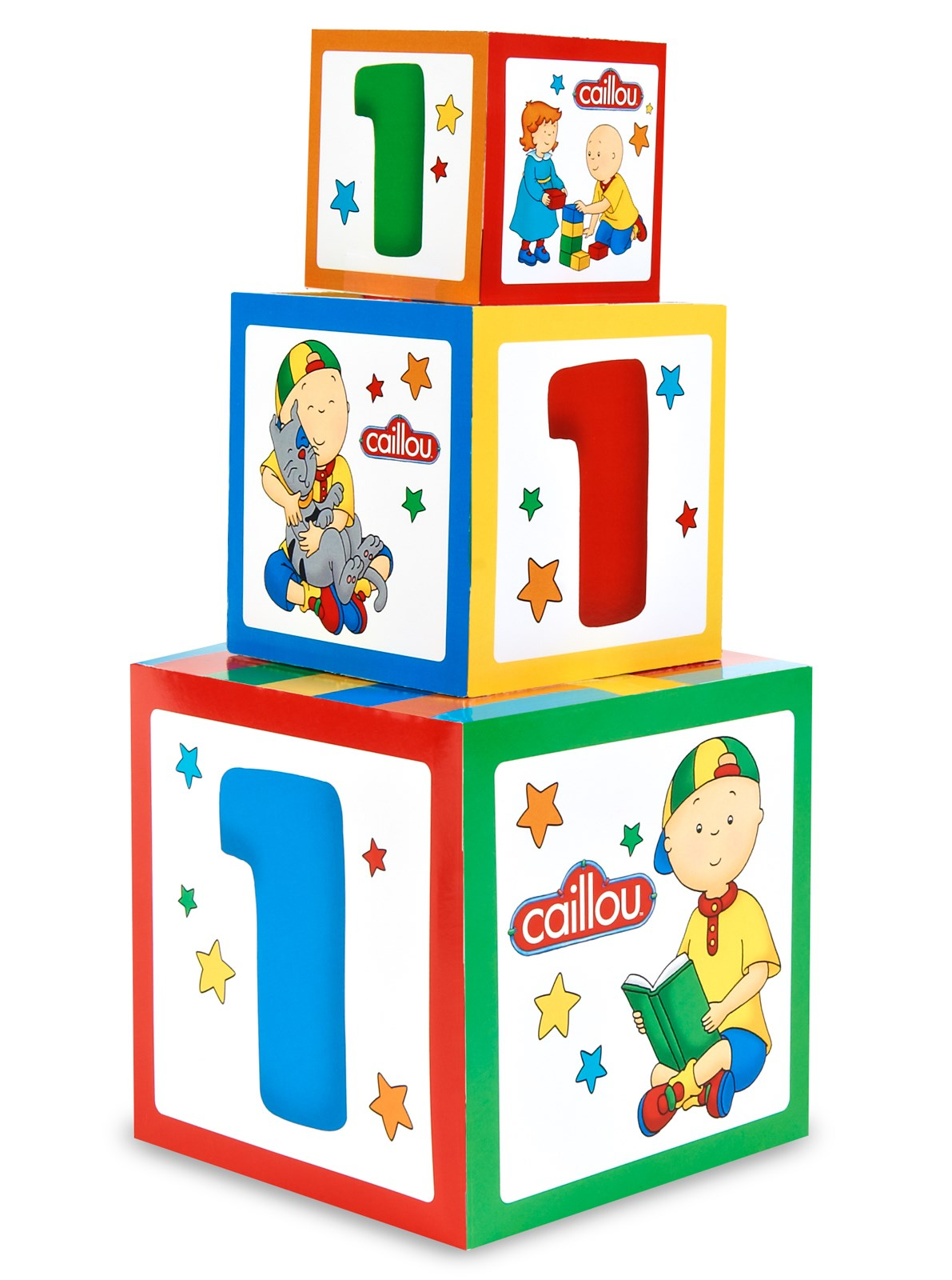 Caillou 1st Birthday Gift Box Set Centerpiece