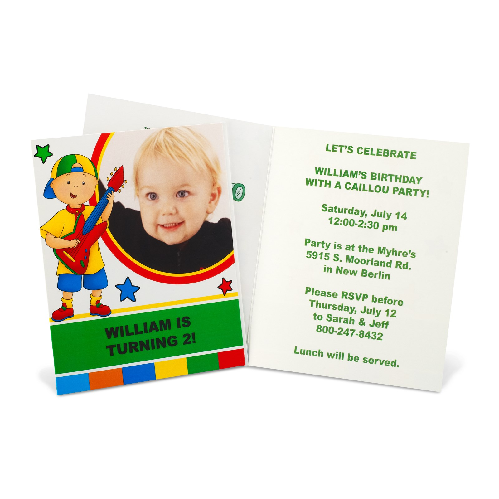 Caillou Personalized Invitations | BirthdayExpress.com
