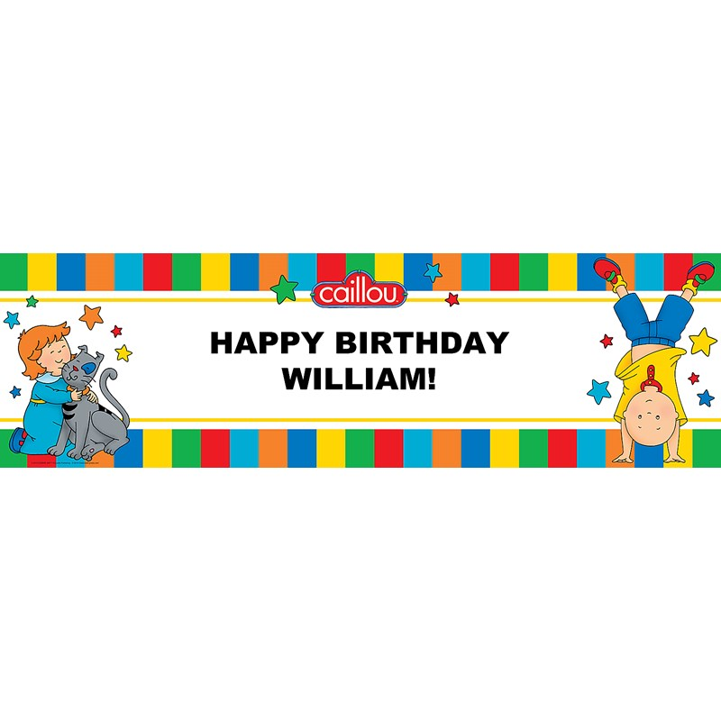 Caillou Personalized Vinyl Banner | BirthdayExpress.com