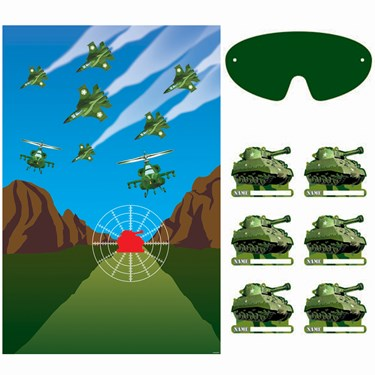 Camouflage Tank Party Game