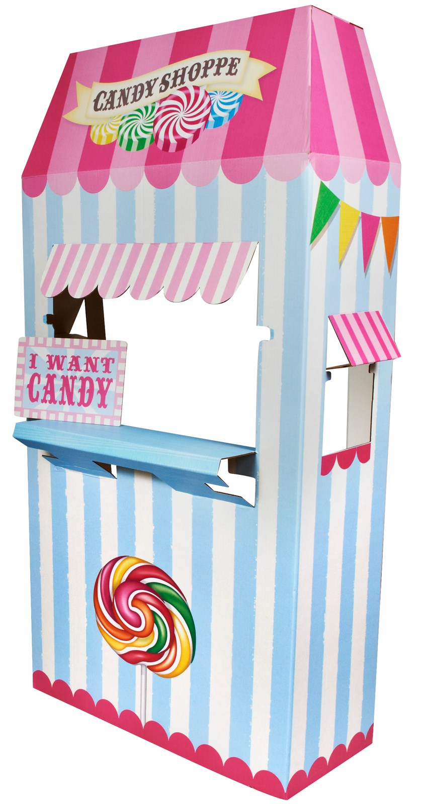 Candy Shoppe Cardboard Stand - 6' Tall | BirthdayExpress.com