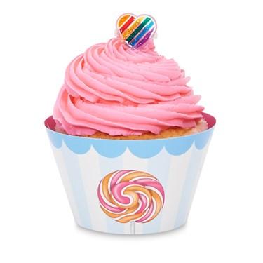 Candy Shoppe Cupcake Wrapper & Pick Kit