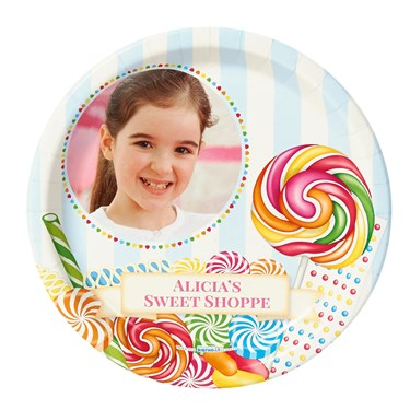 Candy Shoppe Personalized Dinner Plates (8)