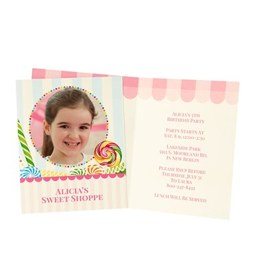 Candy Shoppe Personalized Invitations (8)
