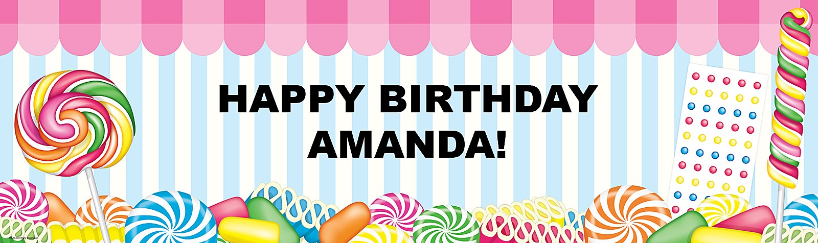 Candyland Vinyl Banner Candy Shoppe Personalized Vinyl