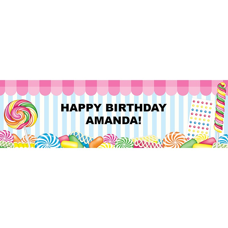 candy shoppe personalized vinyl banner birthdayexpress com